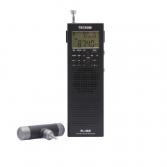 PL360 PLL World Band DSP Radio station receiver with ETM AM FM SW LW PL-360 Black Silver Available built-in speaker