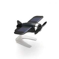 Car Air Freshener Airplane Aircraft Model Solar Energy Aromatherapy Interior Decoration